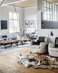 Industrial style living room floor picture