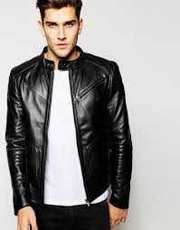 black rivet mens faux leather cycle jacket w quilted shoulders and
