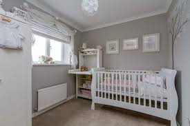 white furniture nursery. Small Unisex Baby Nursery With Grey Walls And White Furniture R