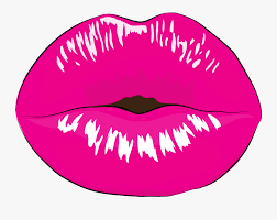 gloss smile hot pink lips clipart