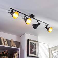 kitchen spotlight lighting. Black And Golden Kitchen Spotlight Julin, 4 Bulbs-9620732-03 Lighting