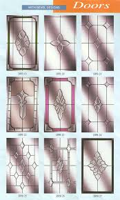 glass door panels with bevel designs