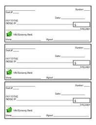Free Printable Check Templates! Great For Teaching Kids The Value Of ...