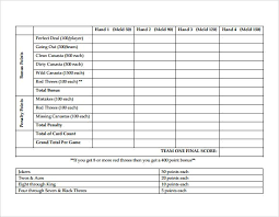 Canasta Score Sheet Template Fascinating Hand And Foot Score Sheet PDF Hands Pinterest Scores Pdf And