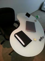 buy shape home office. I Bought My Home Office Desk From IKEA. Love The Kidney Bean Shape \u0026 Color Of Desk. This Can Also Be Used As A Work Space For Artists Or Architects Buy C