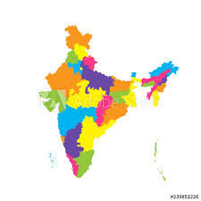Background Adobe Vectors Color White On Of Explore At Similar Administrative Isolated Illustration Vector India Map - This And Buy Stock