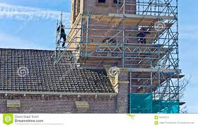 Scaffold Builders Scaffold Builders Stock Photo Image Of Secured Scaffolding