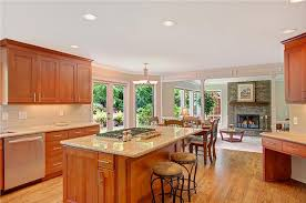 fabuwood galaxy pecan cherry stained cabinets transitional kitchen cabinetry galaxy pecan