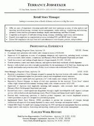 Retail Manager Resumes Extraordinary 44 Retail Sales Manager Resume Free Resume