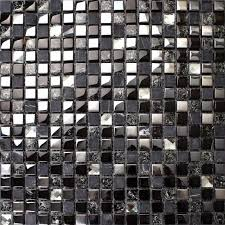 black glass mosaic diamond gray marble wall tiles plated silver blue crystal backsplash