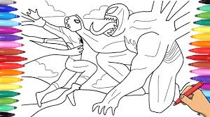 You can print or color them online at getdrawings.com for absolutely free. Spiderman Vs Venom Coloring Pages How To Draw Marvel Venom And Spiderman Youtube