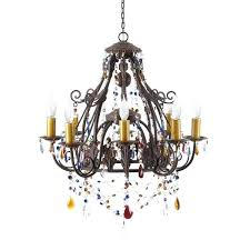 multi colored chandelier multicolored wrought iron 8 light leaf chandelier large multi coloured gypsy chandelier