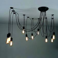 plug in swag pendant light chandelier black ikea