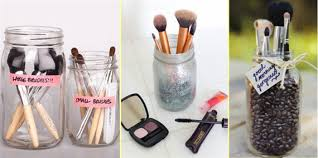 mason jar makeup brush holder. mason-jar-make-up-brushes mason jar makeup brush holder