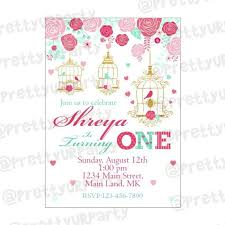 E Invites For Birthday Mint And Pink Floral 1st Birthday Theme E Invitations