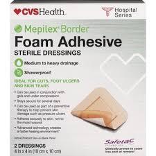 Cvs Health Mepilex Border Foam Adhesive Sterile Dressings
