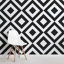 black and white wallpaper geometric pattern. Modren Black Geometric Black And White Wallpaper Mural Intended And Pattern