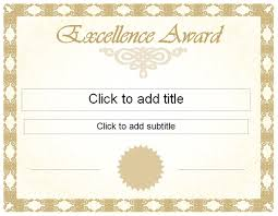Award Of Excellence Certificate Template pics photos editable award excellence certificate achievement 25