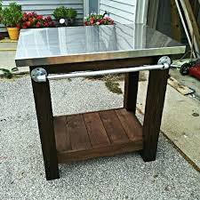 outdoor prep table diy white grill with stainless steel top projects