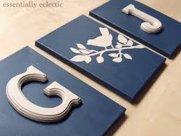diy initial art essentiallyeclectic com make your very own custom wall