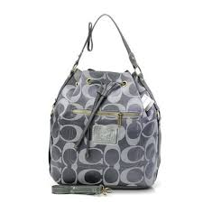 Genuine Coach Drawstring Medium Grey new Shoulder Bags BAS STYLE NO. 157307  hot sale