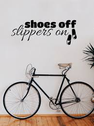 shoes off slippers on shoes off slippers on wall art sticker