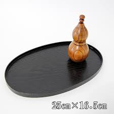 oval gold coin mini tray black wooden oval gold coin tray tray lacquerware