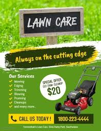 Sample Flyers For Landscaping Business Customizable Design Templates For Lawn Maintenance