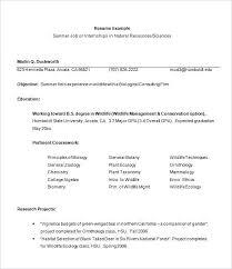 Sample Of Resume Format Example Resume Format For Internship Free