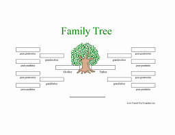 008 Big Family Tree Chart Green Leaves2 Template Ideas Free
