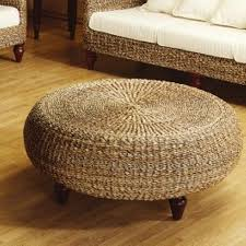 wicker coffee table ottoman the new way home decor with regard to round rattan 14