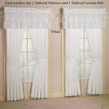 White Sheer Curtains Ideas : IMPORTED EMBROIDERED LACE SHEER CURTAINS