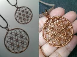 flower of life pendant wire wrapping jewelry tutorial 258