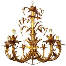 chandelier bamboo light design hollywood regency gold gilded faux bamboo chandelier tole italy part 97