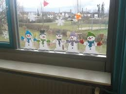 Materialkiste Schneemann Fensterbild Schneemann Basteln