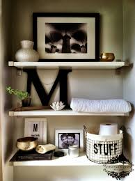 Bathroom Shelves Decorating Bathrooms Should Be Creatively Decorated Towels Functionally