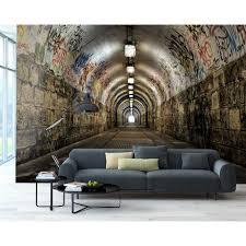 brewster graffiti tunnel wall mural