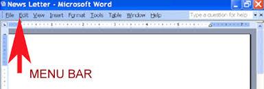microsoft word menus i microsoft word basics