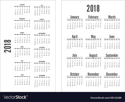 Calander Years Simple Black And White Pocket Calendar Years