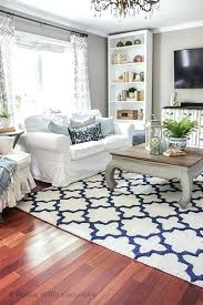 navy and white rug