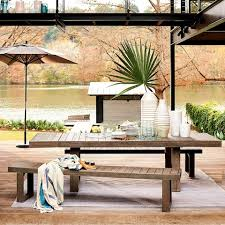 outdoor furniture west elm. Benches Are A Great Way Of Optimising The Space In Your Garden Credit: West Elm. \ Outdoor Furniture Elm