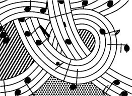 Anti Stress Kleurplaten Roy Lichtenstein Music 7