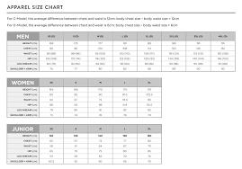 Scott Snow Apparel Size Chart