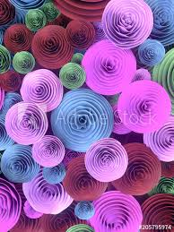 Paper Crafted Flowers Abstract Illustration Of Paper Crafted Quilling Flowers With