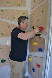do it yourself climbing wall