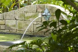 sydney wall fountain with stainless steel outdoor wall lights and sconces landscape modern overgrown stone