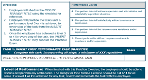 Enhancing On The Job Training From A Checklist To A Performance