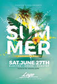 Part Flyer Summer Party Flyer Templates Summer Party Psd Flyer Templates