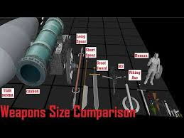 Gun Size Comparison Chart Weapons Size Comparison