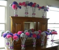 Tissue Paper Flower Centerpieces My Diy Tissue Paper Flower Wedding Centerpieces My Girlish